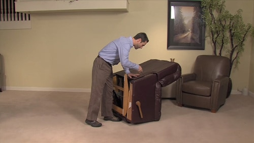 How to remove a recliner back